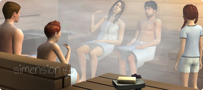 Die Sims 4 Sauna sorgt für Entspannung