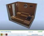 Sims 4 Wellness-Tag: Gestaltete Sauna Holz in Vollendung