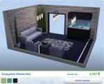 Sims 4 Wellness-Tag: Gestaltetes Wohnzimmer Zwanglose Modernität