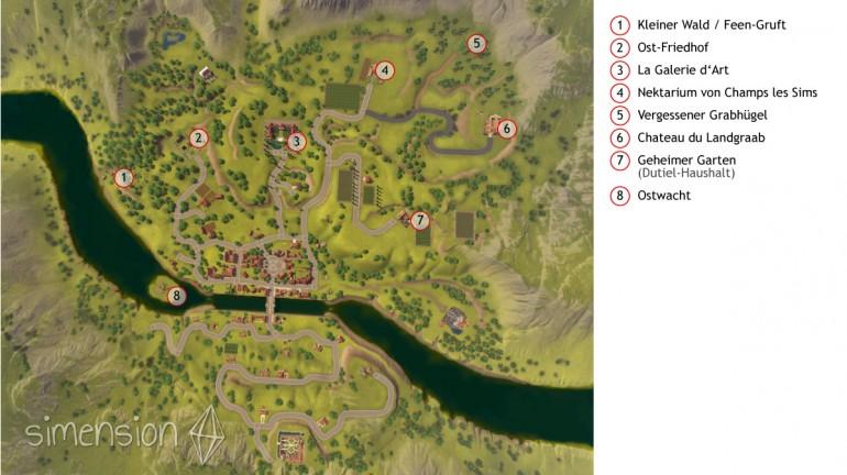 Die Sims 3 Gruften und Grabstätten: Übersicht Champs les Sims