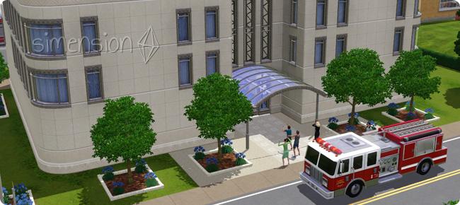 Feuerwehr bei einer Gebäudekatastrophe