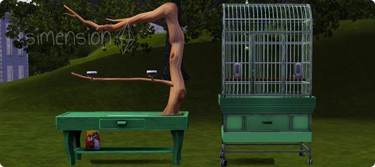 Sims 3 Vogelvoliere und Vogelbaum