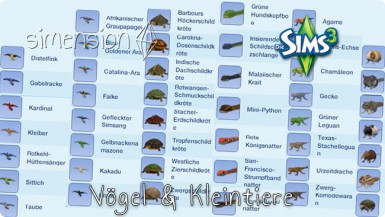die sims 3 tiere download