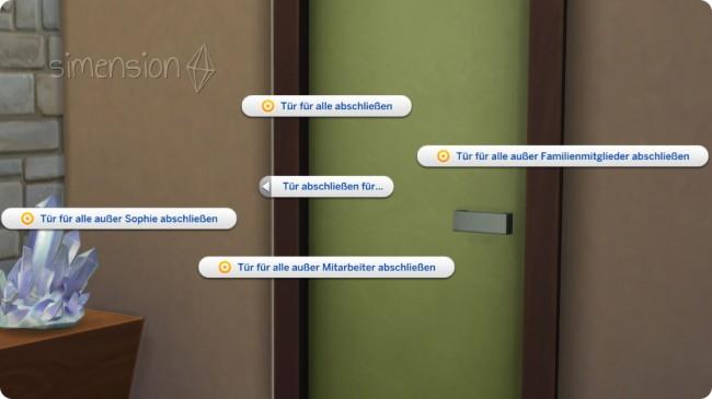 Die Sims 4 mit abschließbaren Türen