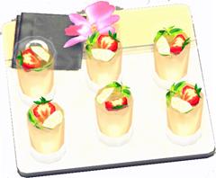 Luxus-Getränketablett mit Fruchtbrause