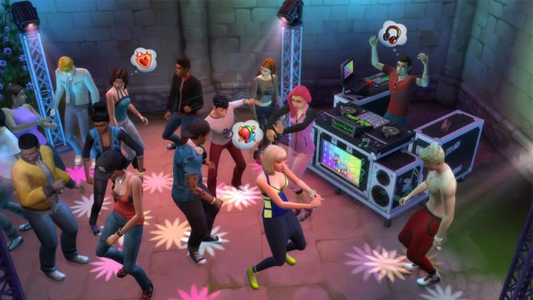 Die Sims 4 Zeit für Freunde mit DJs und Club-Parties