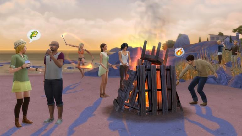 Die Sims 4 Zeit für Freunde mit Lagerfeuer