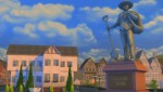 Die Statue des Grundungsvater der neuen Welt Windenburg