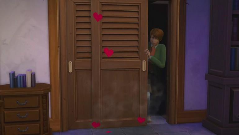 Die Sims 4 Zeit für Freunde mit Techtelmechtel im neuen Einbauschrank