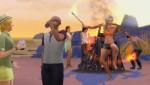 mit Feuerstäben jonglieren