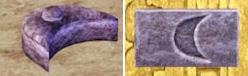 Halbmondschlüsselstein aus Al Simhara/Ägypten