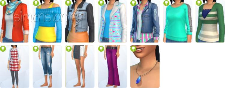 Die Sims 4 Coole Küchen Accessoires mit neuer Kleidung für Sims-Damen