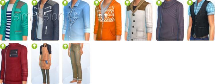 Die Sims 4 Coole Küchen Accessoires mit neuer Kleidung für Sims-Herren