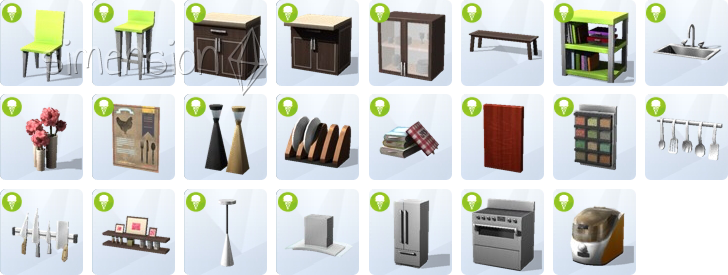 die sims 4 coole k chen accessoires simension. Black Bedroom Furniture Sets. Home Design Ideas