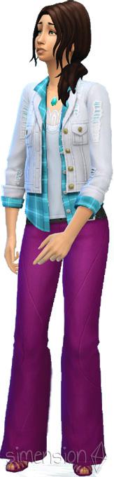 Die Sims 4 Coole Küchen Accessoires mit Schlaghose für Frauen