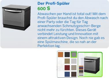 Die Sims 4 Spülmachine oder Geschirrspüler