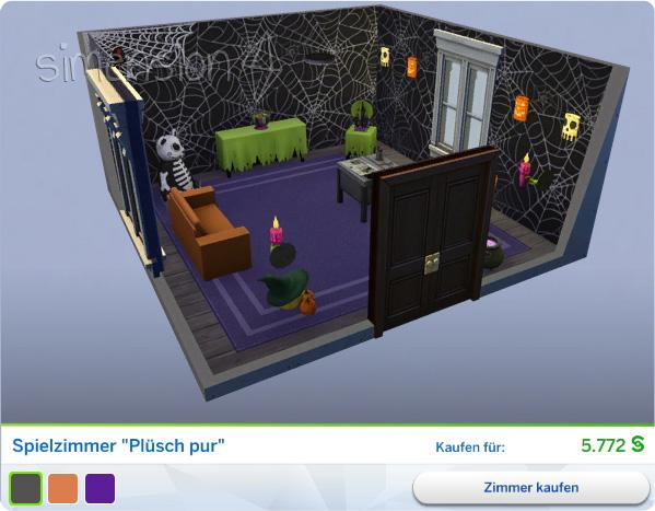 Die Sims 4 Grusel-Accessoires mit gestaltetem Spielzimmer Plüsch pur