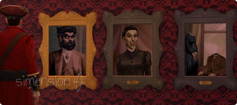 Gruselbilder mit Wechselmotiven in Die Sims 4 Grusel-Accessoires