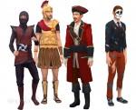 Die Sims 4 Grusel-Accessoires mit Kostümen für männliche Sims