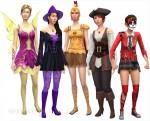 Die Sims 4 Grusel-Accessoires mit Kostümen für weibliche Sims