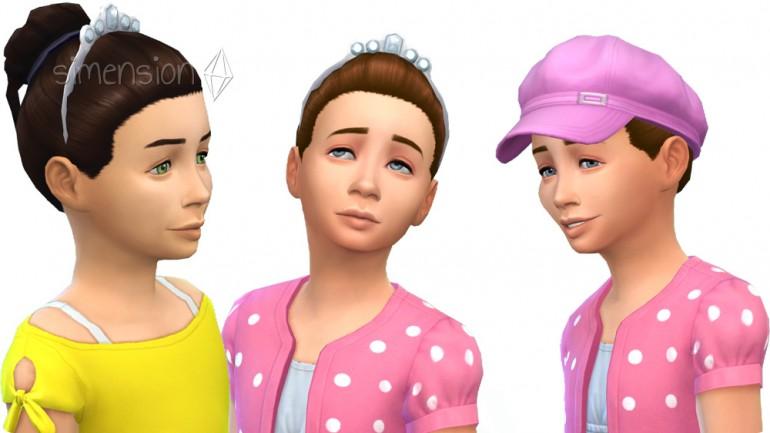 Die Sims 4 Grusel-Accessoires mit neuer Frisur für Mädchen