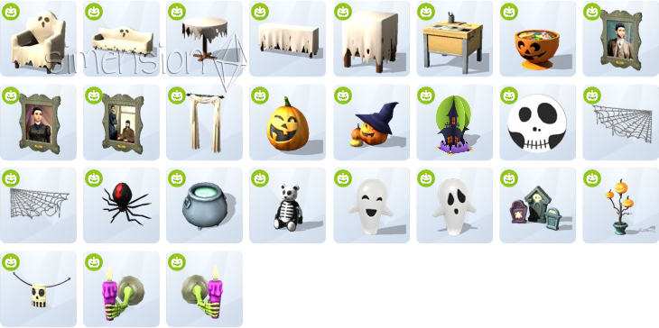 Die Sims 4 Grusel-Accessoires mit neuen Möbeln und Dekorationen