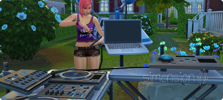 Die Sims 4 Fähigkeit DJ-Mixen mit Verbesserungen am DJ-Pult