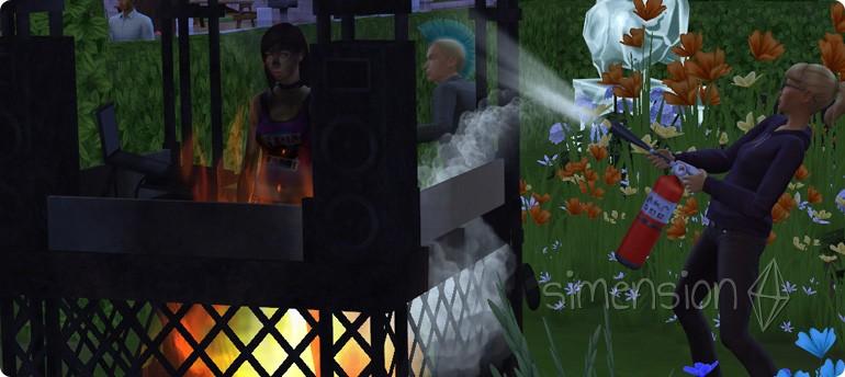 Feuergefahr an DJ-Pulten in Die Sims 4 Zeit für Freunde