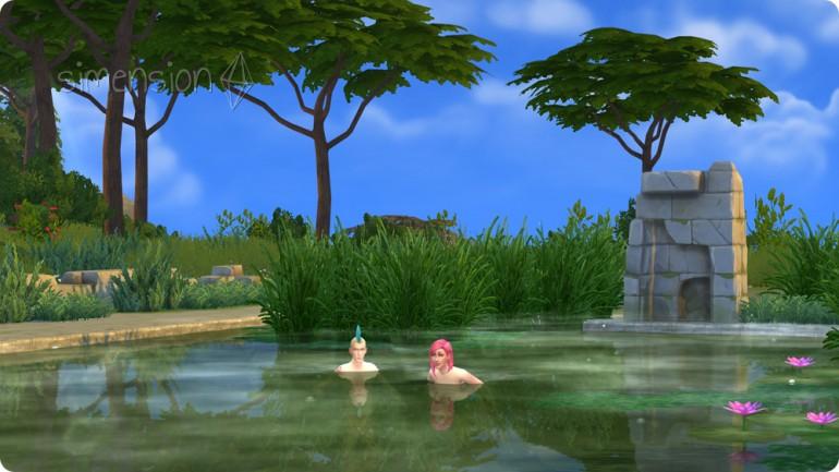 Die sims 4 Zeit für Freunde mit Naturpools und Schwimmteichen