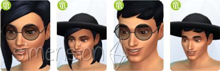 neue Brille und Hut für beide Geschlechter in Die Sims 4 Heimkino-Accessoires