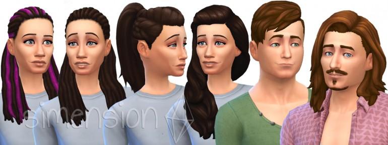 Die Sims 4 Heimkino-Accessoires mit neuen Frisuren