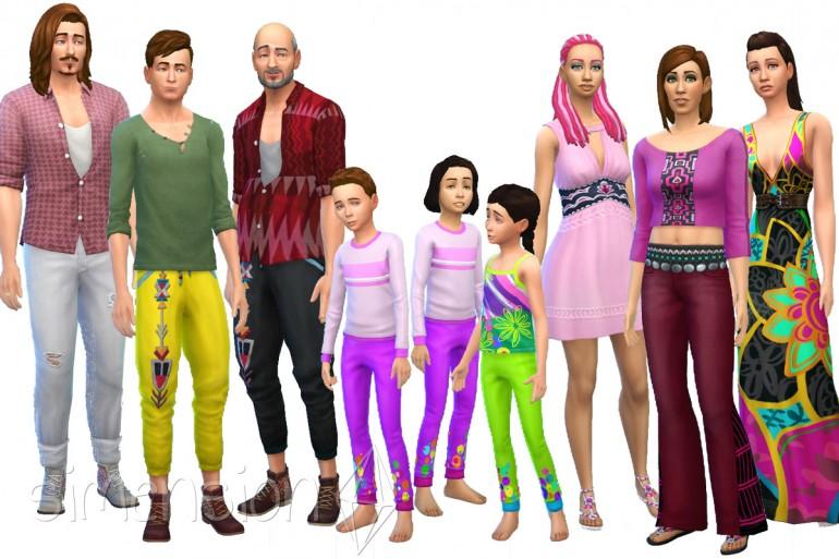 Die Sims 4 Heimkino-Accessoires mit neuen Outfits