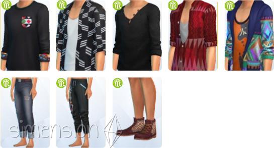 neue Kleidung für männliche Sims in Die Sims 4 Heimkino-Accessoires