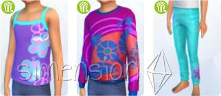 neue Kleidung für Sims-Kinder in Die Sims 4 Heimkino-Accessoires