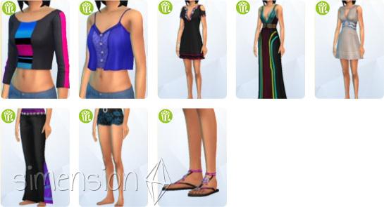 neue Kleidung für weibliche Sims in Die Sims 4 Heimkino-Accessoires