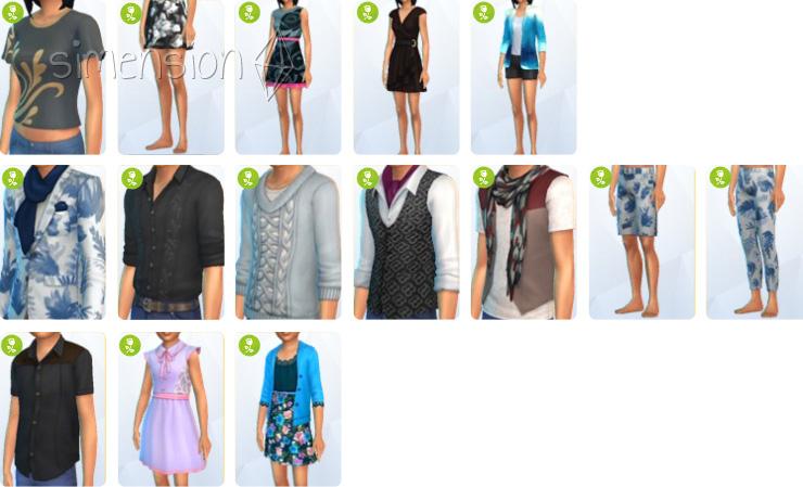 Neue Kleidung in Die Sims 4 Romantische Garten Accessoires