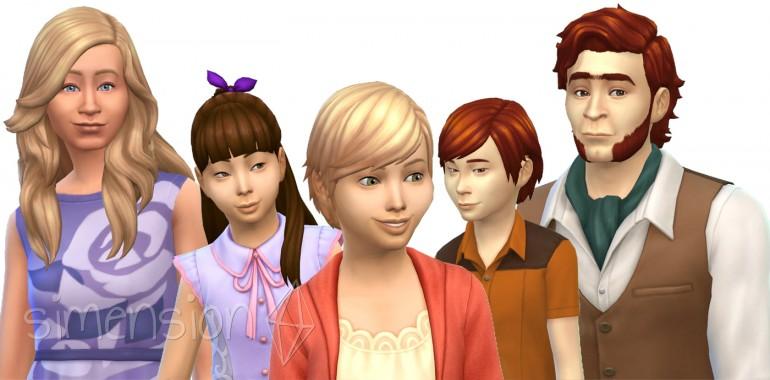 4 neue Frisuren in Die Sims 4 Romantische Garten-Accessoires