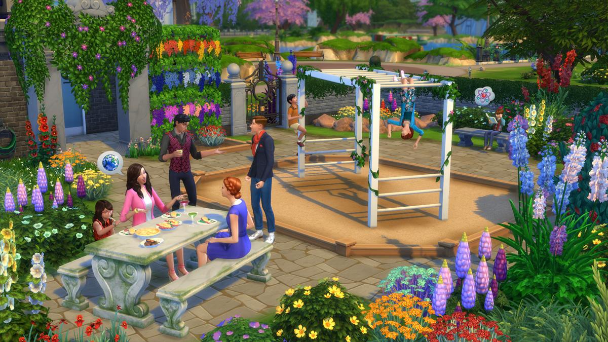 Die Sims 4 Romantische Garten-accessoires - Simension Ein Romantischer Garten