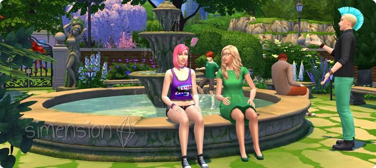 Springbrunnen mit vielen Optionen in Die Sims 4 Romantische Garten-Accessoires