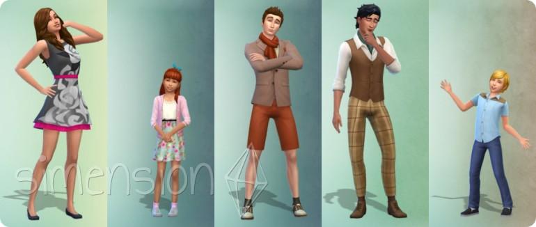 5 neue vorgefertigte Looks in Die Sims 4 Romantische Garten-Accessoires
