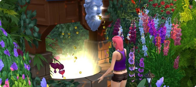Die SIms 3 Romantische Garten-Accessoires mit Wunschbrunnen