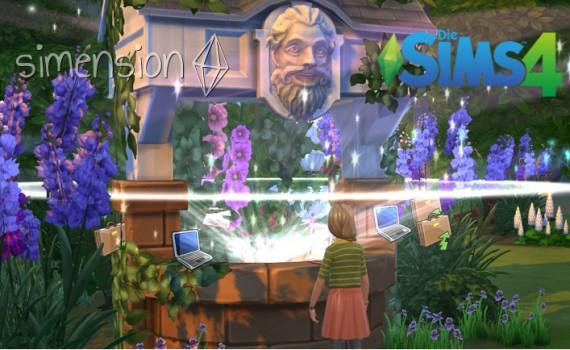 Die Sims 4 Wunschbrunnen
