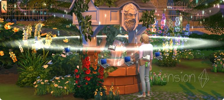Beförderung wünschen am Die Sims 4 Wunschbrunnen