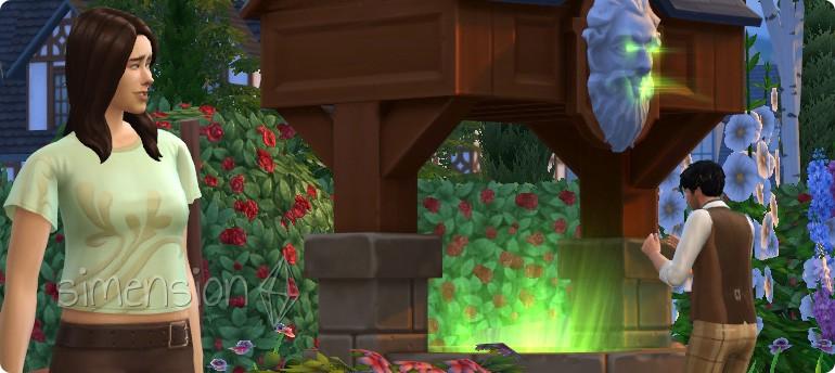 Wunscherfüllung am Die Sims 4 Wunschbrunnen