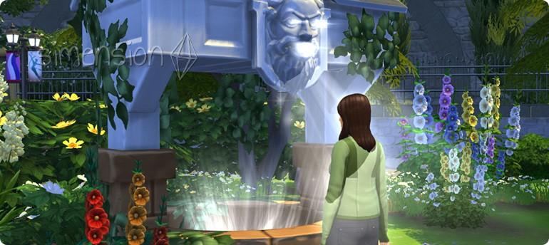 Jugendliche Kraft wünschen am Die Sims 4 Wunschbrunnen