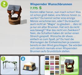 Wispernder Wunschbrunnen im Die Sims 4 Kaufkatalog