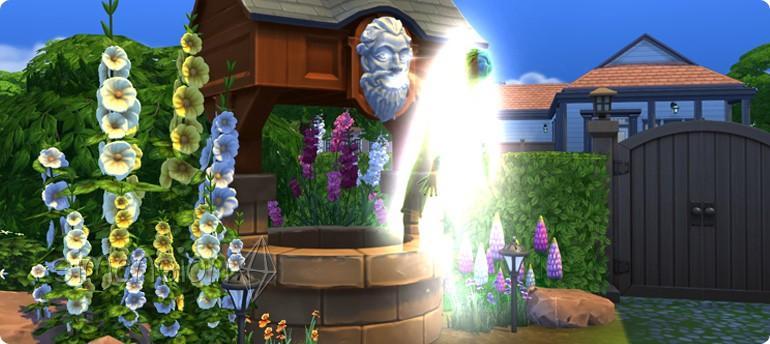 Leben wünschen am Die Sims 4 Wunschbrunnen