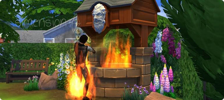 Lebensgefahr am Die Sims 4 Wunschbrunnen