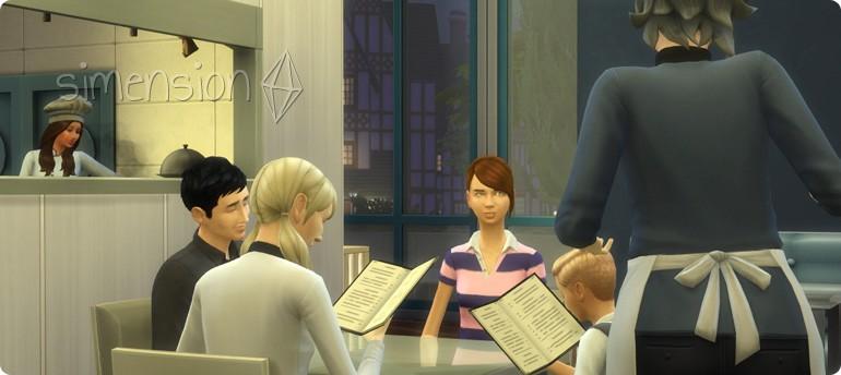 Restaurants besuchen in Die Sims 4 Gaumenfreuden