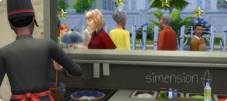 Sterne für das eigene Restaurant erarbeiten in Die Sims 4 Gaumenfreuden